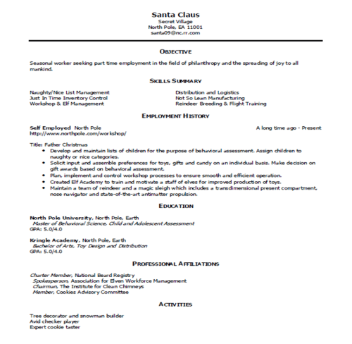 Sample Resume and Simple Critique  My Career Advisor