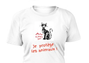 À Saisir ! T-shirt Chat : Je Protège Les Animaux !
