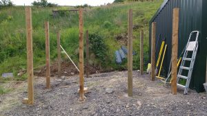 hay shed posts