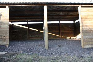 lambing shed entrance