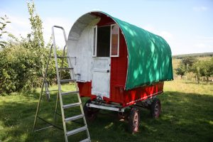 gypsy caravan - red coat nearly done