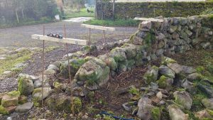 stone dyke repairs before