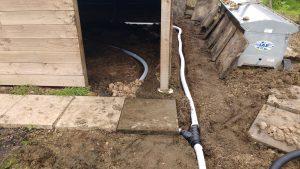 drainage pipe laid