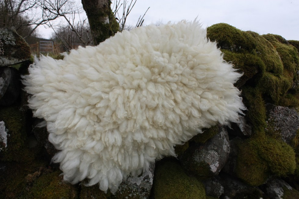 felted sheepskin rug