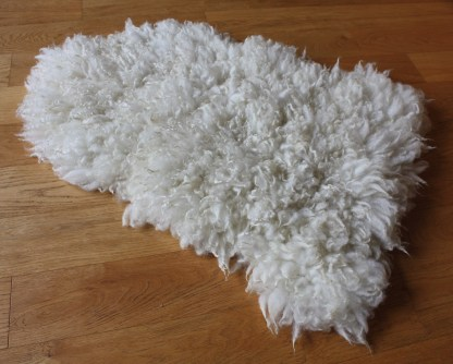felted fleece rug - front side Cheviot