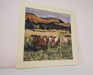 Sheep print - Yin Yarr & Yogi mounted