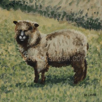 original acrylic painting - sheep - Yggy