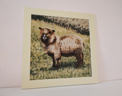 sheep mounted print - Yggy