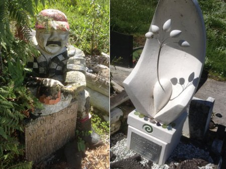 Pictures of Billy T James' Grave Site at Taupiri Mountain New Zealand