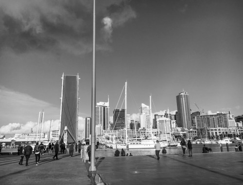 Viaduct Harbour Bridge - Black & White