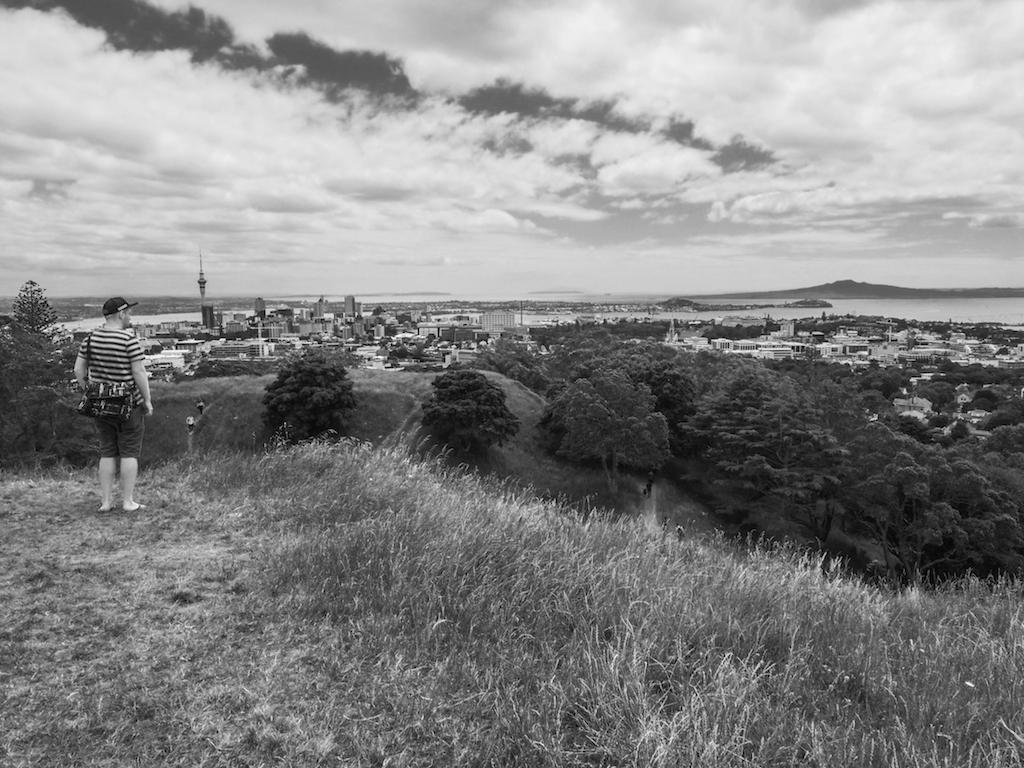 Mt Eden Skyline - Black & White
