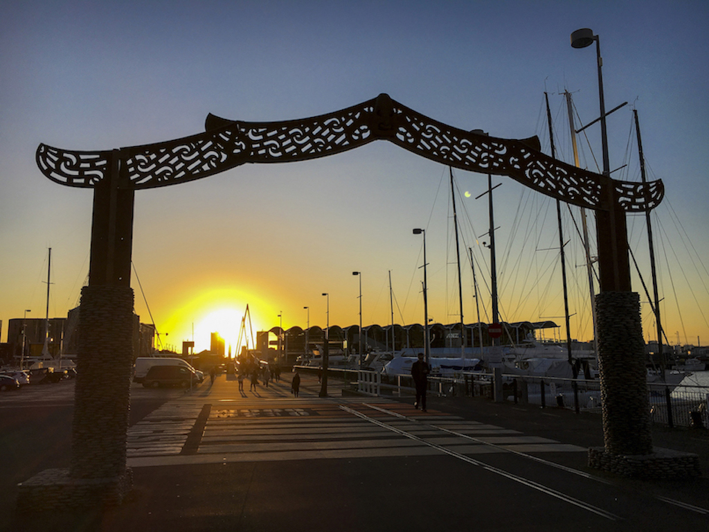 Viaduct Harbour Gate Sunset