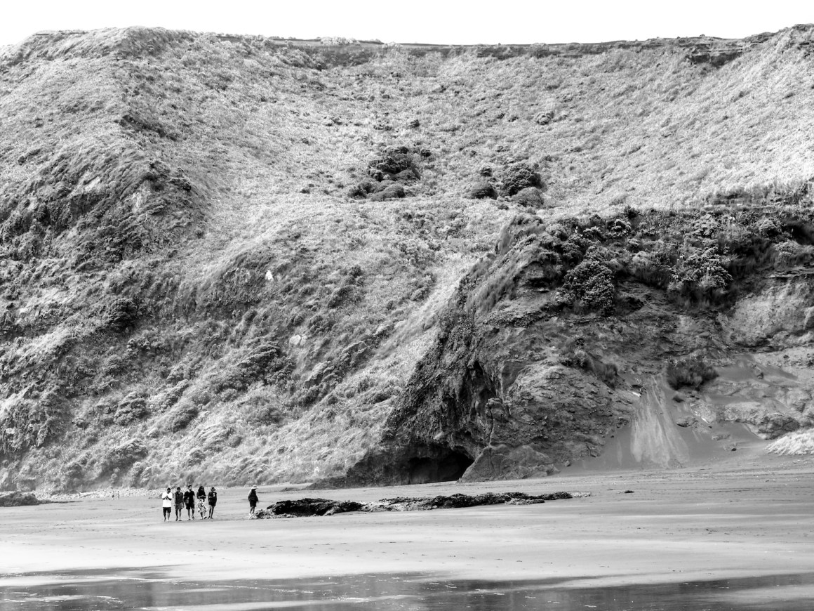 Bethells Beach Caves - Black & White - Landscape Photography Auckland