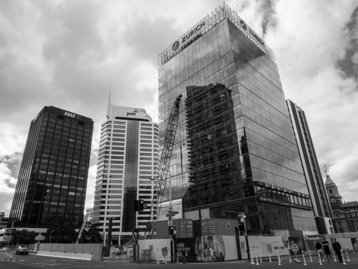 Britomart Queenstreet - Black & White - Street Photography Auckland
