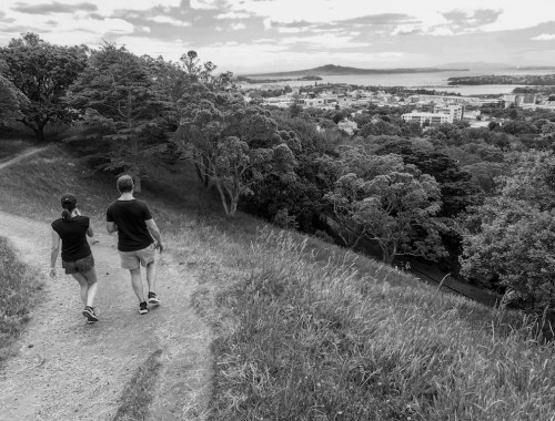 Mt Eden View - Black & White - Street Photography Auckland