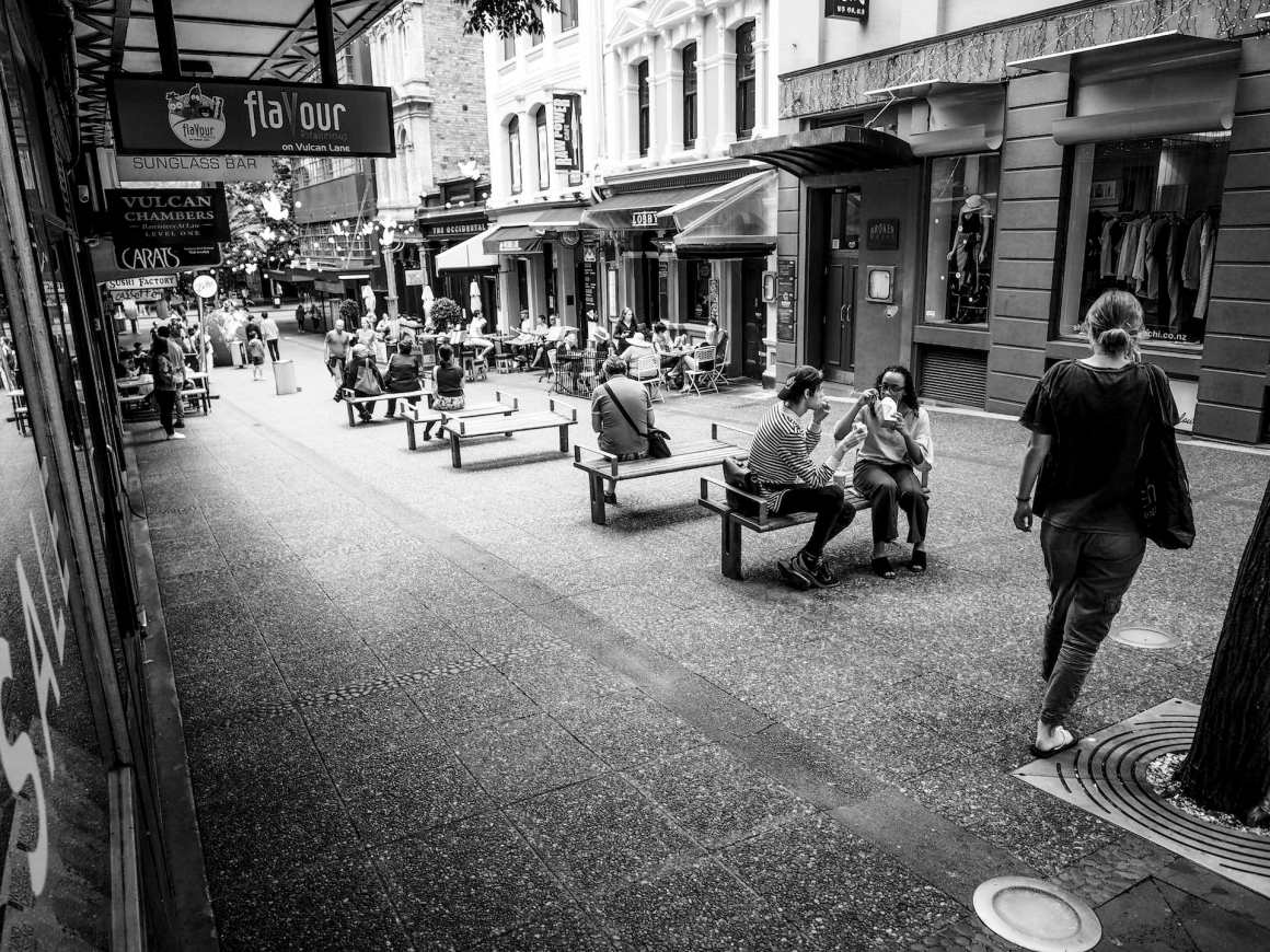 City Life Queenstreet - Black & White Street Photography Auckland