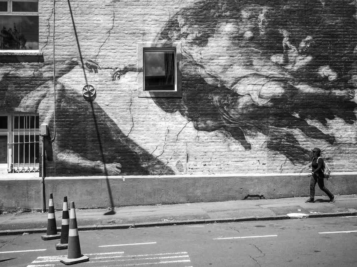 Street Art & Geometry - Black & White - Street Photography Auckland