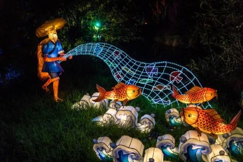 Auckland Lantern Festival Fisherman