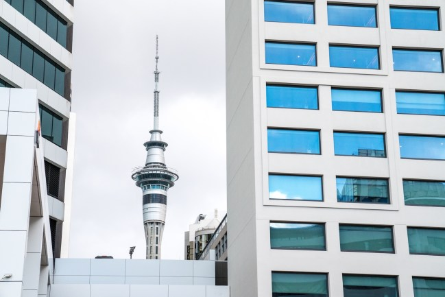 Auckland Sky Tower - Street Photography