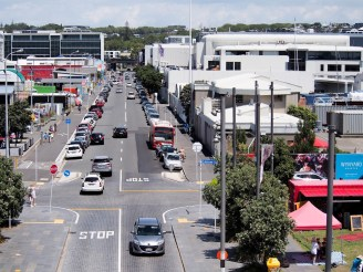 Auckland Wynyard Quarter Traffic