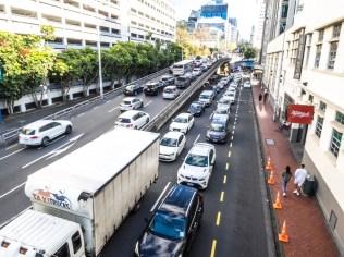Auckland CBD Bad Rush Hour Traffic - Street Photography