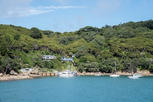 Arriving at Aotea Great Barrier Island Coast Line