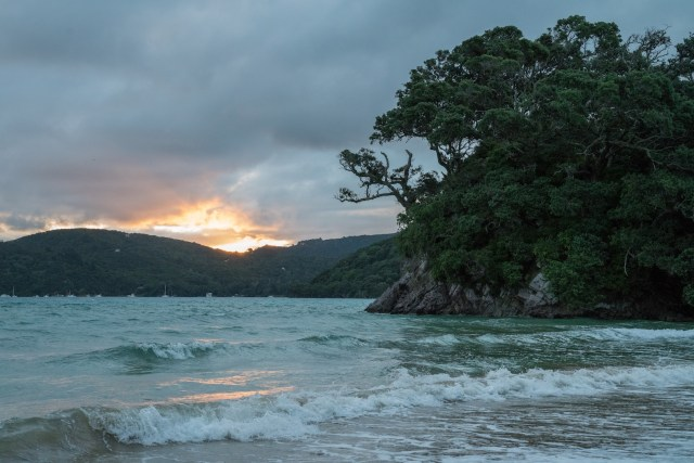 Tryphena Beach Sunset at Great Barrier Island, Aotea
