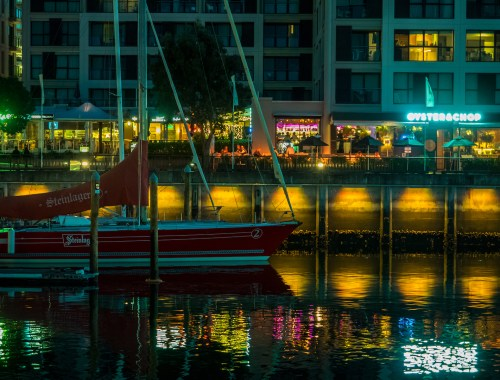 Dinner at Oyster and Chop - Viaduct Harbour Street Photography Auckland