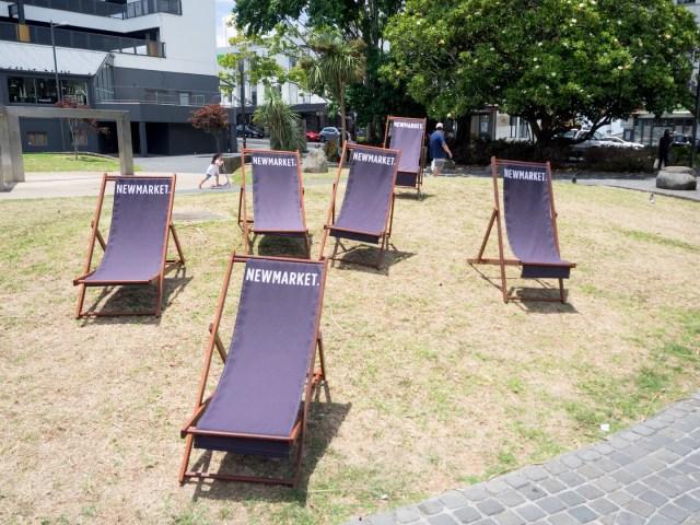 Newmarket Lumsden green Chairs - Street Photography Auckland