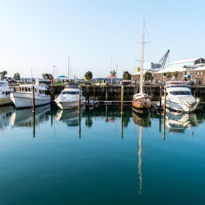 Viaduct Harbour Basin Yachts Reflecting on Water - Street Photography Auckland