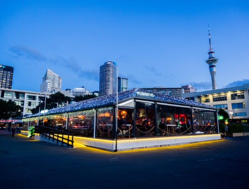 Viaduct Harbour Headquarters Nightfall - Street Photography Auckland