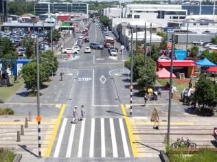 Wynyard Quarter Cars and Pedestrians