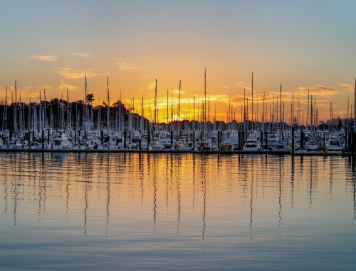 Auckland Westhaven Marina Sunset - Aucklife Framed Photo Print