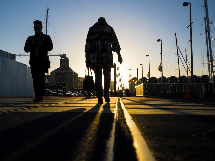 Into the sunset - Viaduct Basin Auckland - Street Photography