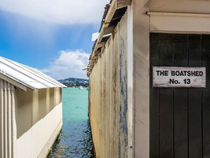 Boatsheds Hobson Bay - Street Photography Auckland