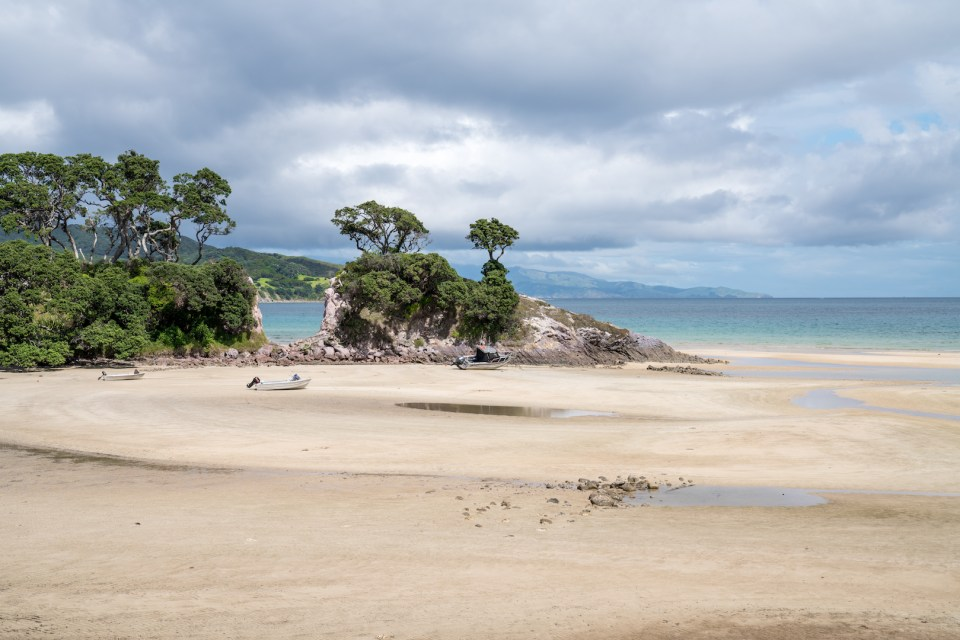 Tryphena Beach at Aotea Great Barrier Island