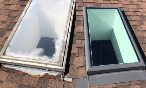 skylight before after