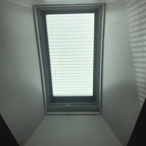 inside view of skylight blinds