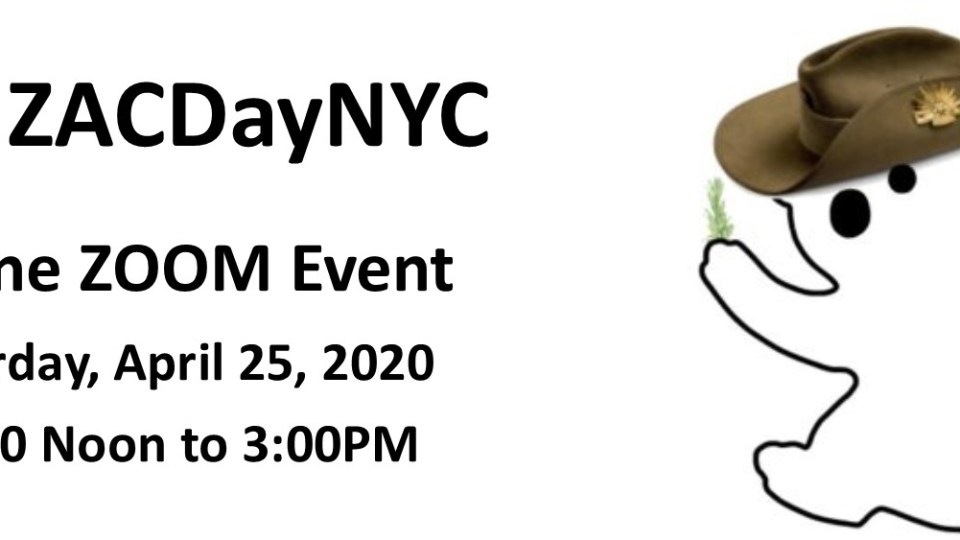ANZAC Day New York 2020