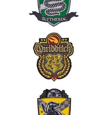 Ecussons Poudlard lot de 3 deluxe vif Quidditch