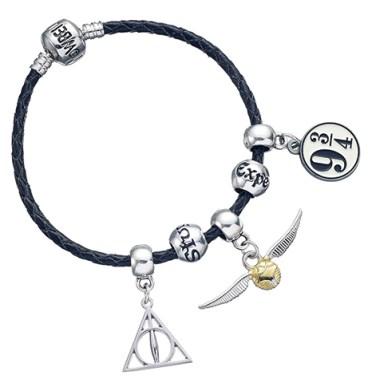 bracelet Charms en Cuir /relique/Vif d'or/Quai