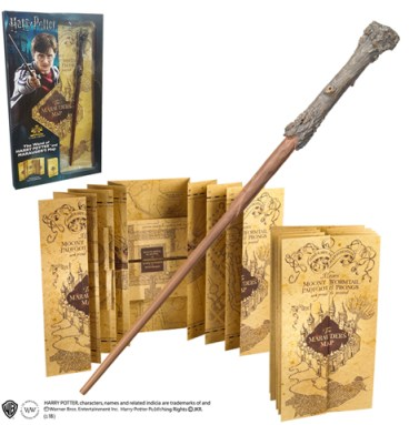 Carte du Maraudeur et Baguette Harry Potter
