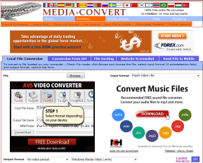 Media Convert - free and on line - convert and split sound, ringtones, images, docs