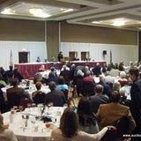 Cathy McBride addresses the association