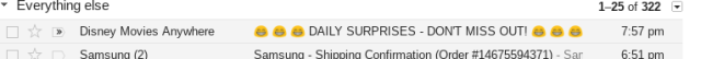 Emoji subject line