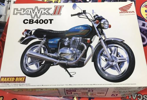 small resolution of plastic model new goods not yet constructed hawk ii cb400t 1 12 naked bike series
