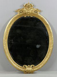 Lot Detail - Large Oval Mirror
