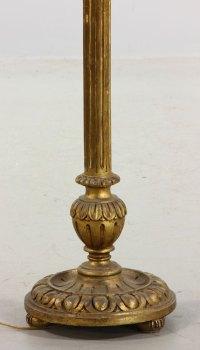 Lot Detail - Gilt Floor Lamp