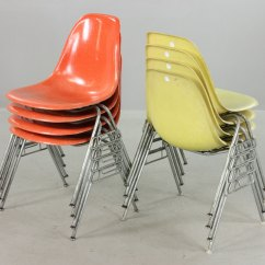 Herman Miller Stacking Chairs Folding Rocker Lawn Lot Detail Set Of Eight Eames For Stackable