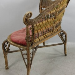 Heywood Wakefield Wicker Chairs Chair Lifts Medicare Lot Detail